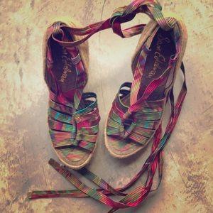 Sam Edelman Platform Tie Around Sandal